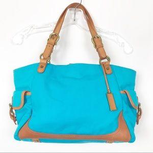 Talbots Aqua Teal Blue Handbag